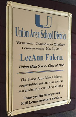 LeeAnn A  Fulena Delivers Commencement Speech at Alma Mater
